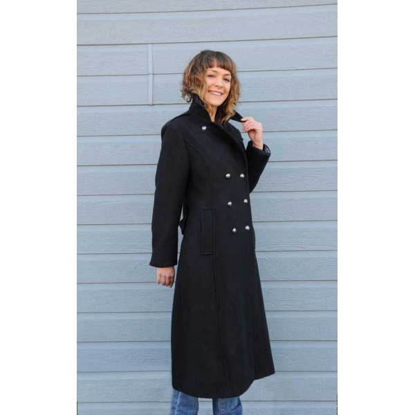 Le manteau long (780g 70/30) de Paimpol / Madame